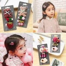 3pcs/set Cute Flower Bow Hairpins Handmade Princess Gift Barrettes Children Headwear Hair Accessories Kids Hair Clips For Girls