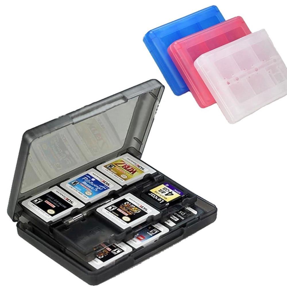 28 in 1 Apsauginė žaidimų kortelės kasetės laikiklio dėžutė Nintendo 2DS / DS Lite / DSi / 3DS / 3DS XL / LL žaidimų kortelių dėklai