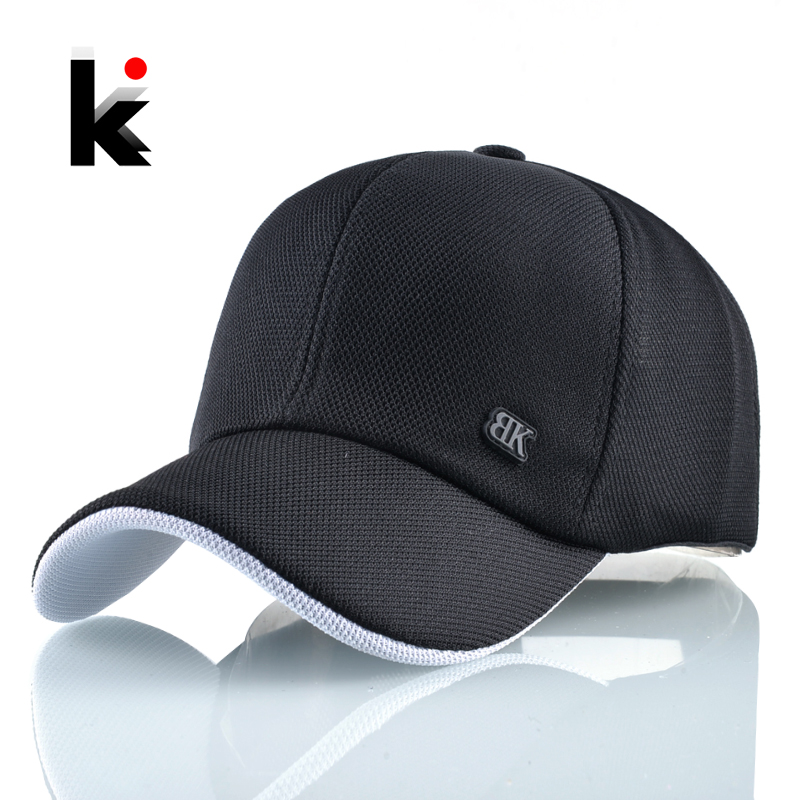 Fashion   Baseball     Cap   Women Solid Dad Hat Breathable Mesh Snapback Hip Hop Hats For Men Outdoor Sport Casual Golf Bone Casquette