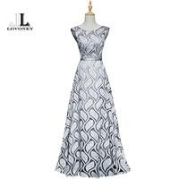 LOVONEY Vintage Peacock Pattern Long Evening Dress 2017 New Design Bandage Formal Dress Women Party Dresses