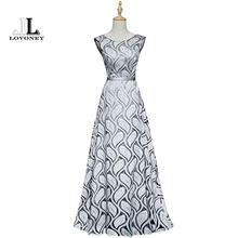 LOVONEY Vintage Peacock Pattern Long Evening Dress 2017 New Design Bandage Formal Dress Women Party Dresses Evening Gowns XYG810