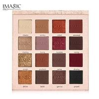 Imagic 16 Colors Shimmer Eyeshadow Palette Matte Eyeshadow Glitter Contour Powder Tint Mineral Pigment T35