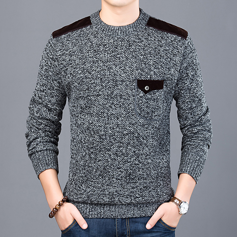 Monerffi Clothing Pullovers Knitwear Jumpers Brand Sweater Mens O-Neck Autumn Casual