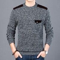 MoneRffi 2019 новый модный брендовый свитер для мужчин пуловеры Slim Fit вязаные джемперы с круглым вырезом Осенняя повседневная одежда для мужчин