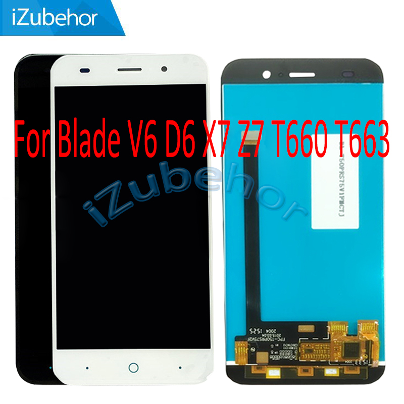 5.0 inch IPS display screen For ZTE Blade V6 D6 X7 Z7 LCD+touch screen digitizer Assembly For ZTE T660 T663 lcd free shipping image