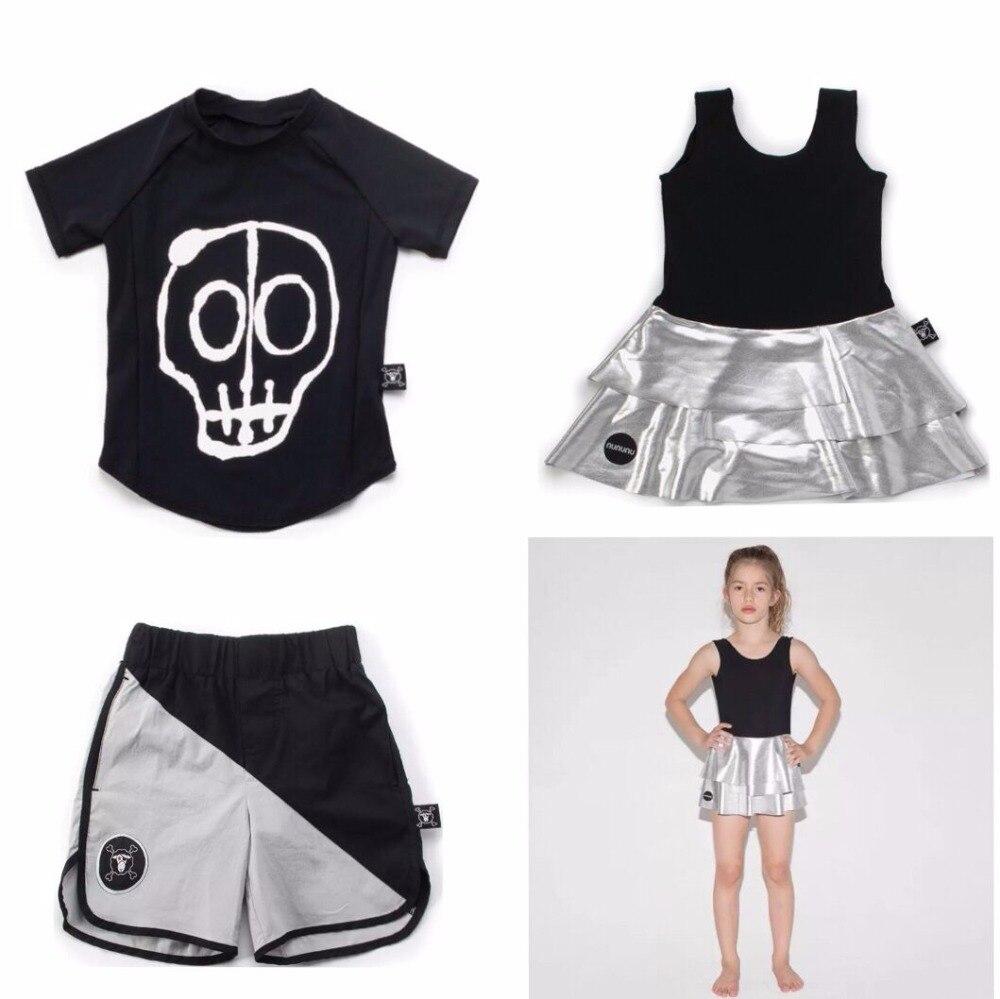 2018 ins hot nununu skull beach short swim wears boys clothing sets girls clothing kids clothes children bobo choses vestidos bobo choses пододеяльник