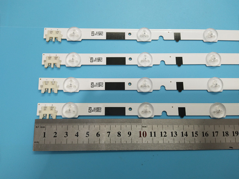 """Image 5 - LED Backlight Lamp strip for Samsung 28"""" TV D2GE 280SC0 R3 UE28F4000 HF280AGH C1 CY HF390BGMV1V 2013SVS28H BN96 25298A HG28EB4-in Computer Cables & Connectors from Computer & Office"""