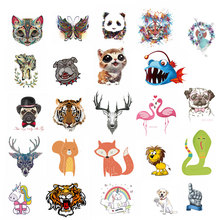ZOTOONE Clothing DIY cute small animal patch Child T-shirt applique heat transfer vinyl printed clothes decorative sticker D
