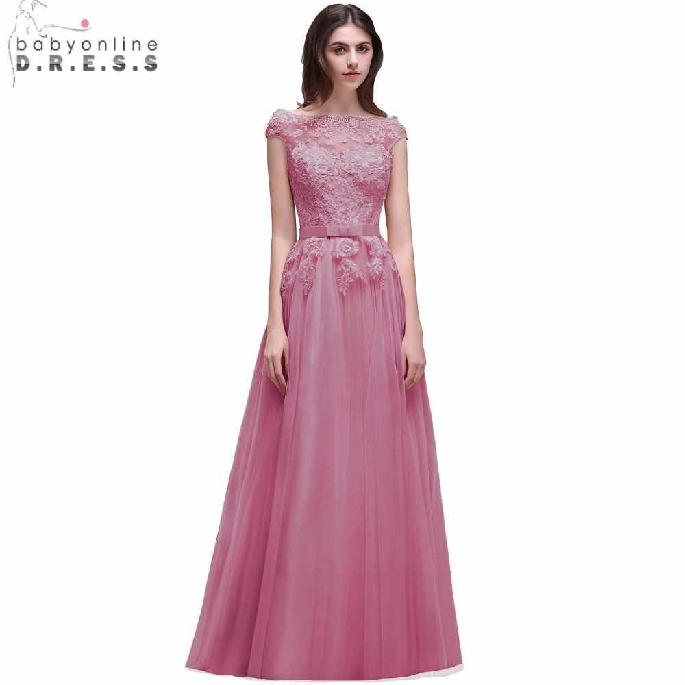 ddd5fb7fcec92 Babyonline Pretty Burgundy Lace Applique Evening Dresses 2019 Off The  Shoulder Long Evening Party Dress vestido de festa