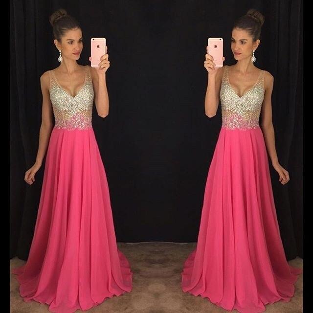 New V-Neck Prom gown 2018 Long Party Formal Pageant Celebrity robe demoiselle d'honneur Vestidos De Novia   bridesmaid     dresses