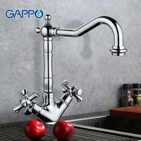 GAPPO Chrome Kitchen Faucet Mixer Cold Hot Water Kitchen Sink Tap Dual Handle Filtered Water Tap