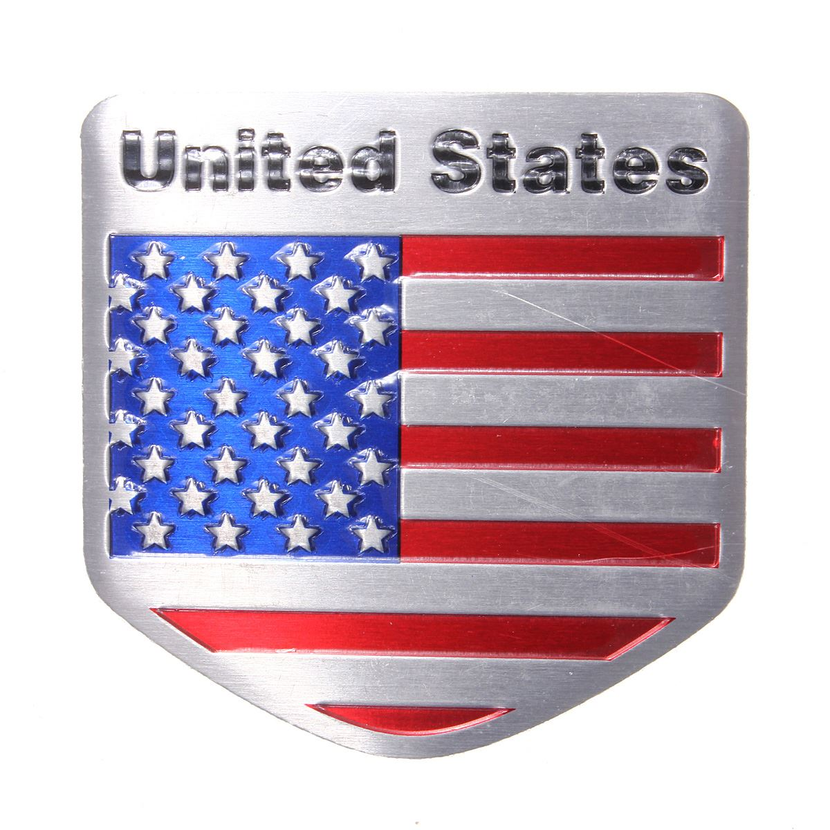 3D Metal US USA American Flag Sticker Car Auto Sport Badge Chrome Emblem Decals