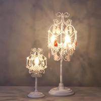 French restaurant crystal candelabra table desk lamps Athena candlestick lights Bedroom dining room wedding led candle holders