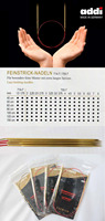 Addi 755 7 80cm Fixed Circular Lace Knitting Needles With Extra Sharp Gold Tips 1 5mm