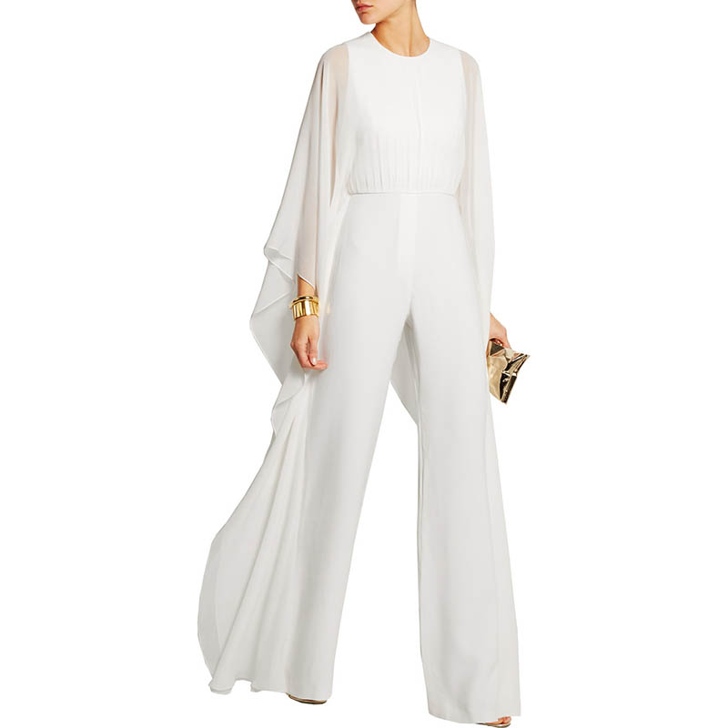 Detail Feedback Questions about 2018 New Long Black Rompers Womens Jumpsuit  Summer Autumn Party O neck Long Sleeves Loose Club Pants Elegant Trousers  for ... 7c0c3357d282