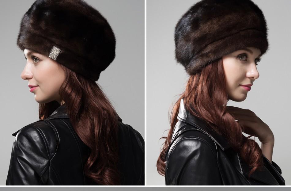 mink fur hat female winter PCM027 (12)