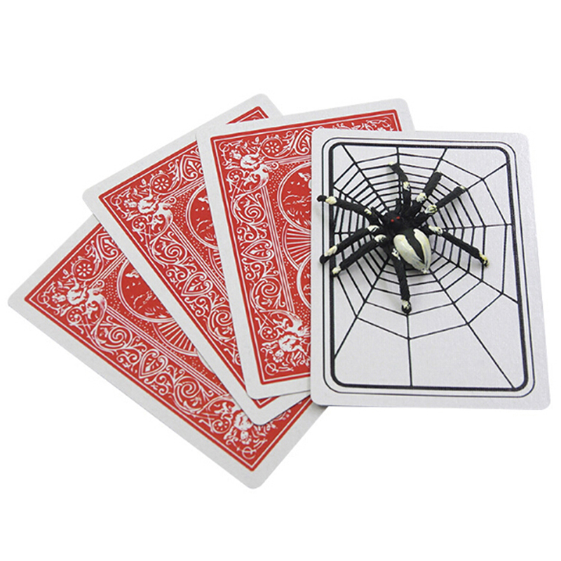 1 Set Spider And Net The Web Trick Cards Magic Props Magic Tricks Toys Magician Gimmick Magic Illusion Closed-Up Magic Toys