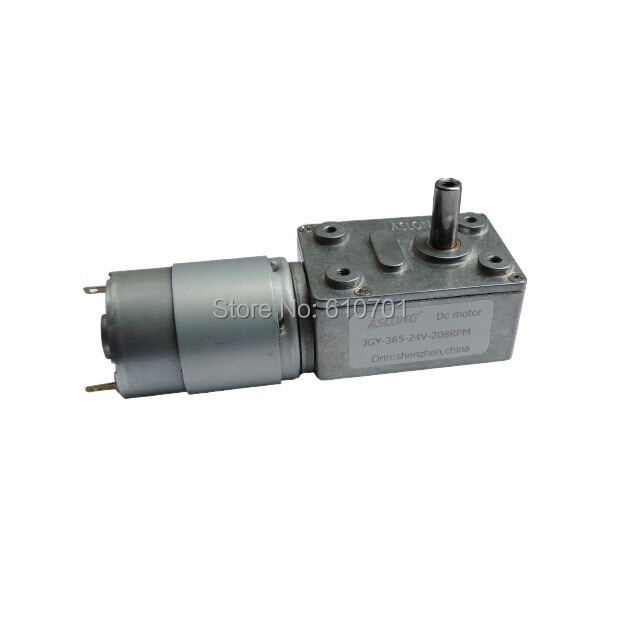 6-24V 24V Rated Voltage Rectangle Worm Gear Box 2 Terminal Electric DC Geared Motor JGY-385 200rpm 50rpm 23rpm 13rpm 8rpm 8mm dia shaft rectangle permanent planet gear box motor 14rpm dc 12v