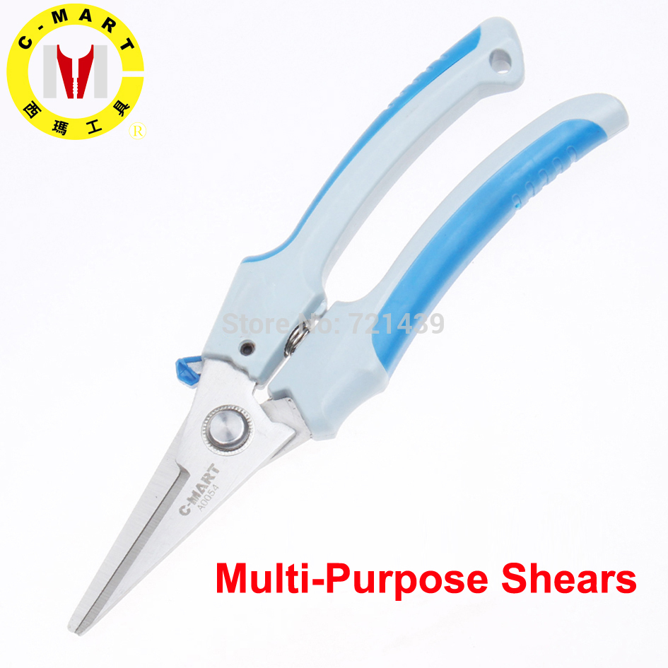 "Garden Cutter C-MART Hand tools multi-purpose shears Electronic scissors 8"" pruning shears hand tools freeship A0054"