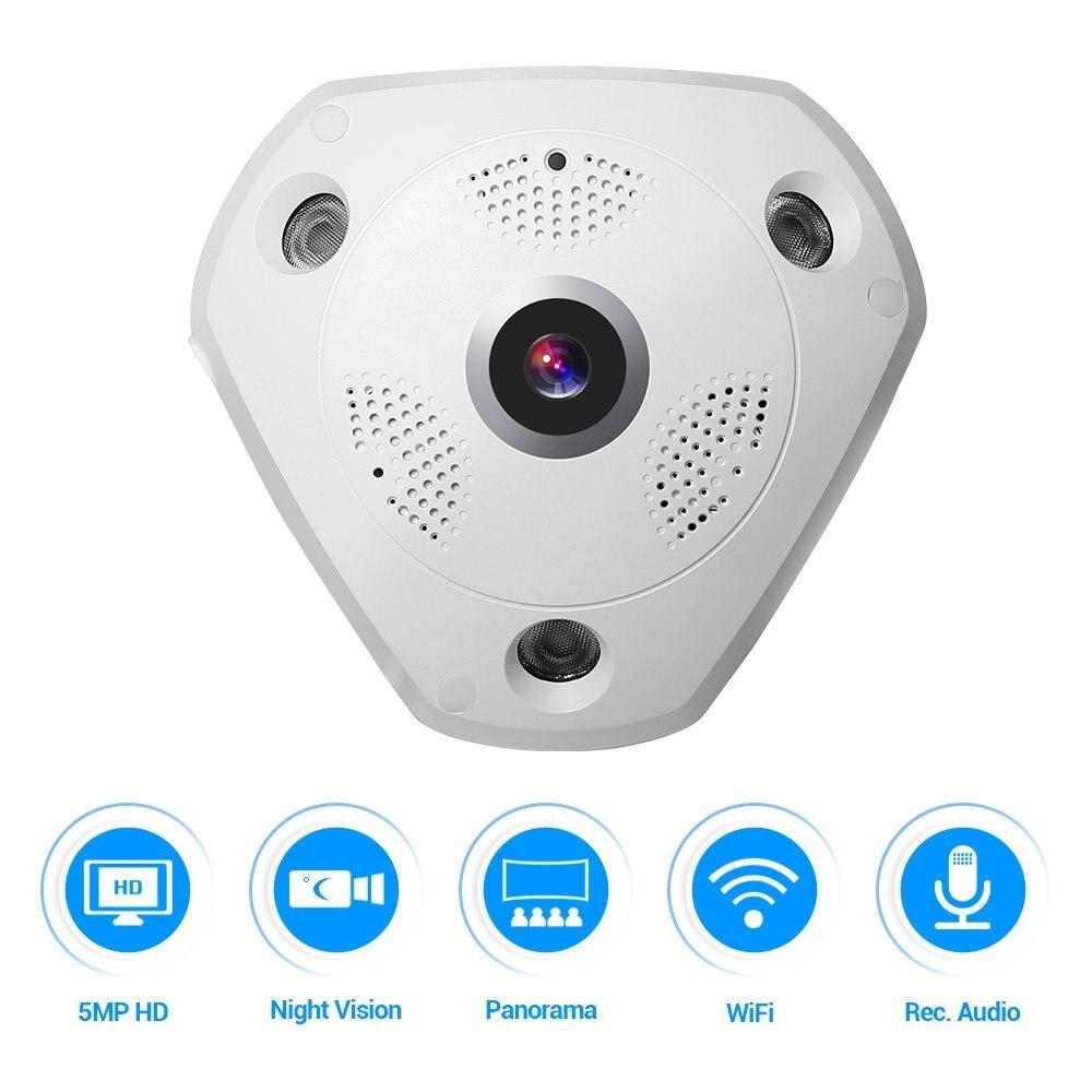 5.0MP 360 градусов камера видеонаблюдения рыбий глаз Беспроводной IP Камера купольная камера с WiFi VR Камера удаленного просмотра бесплатное прил...