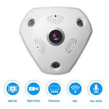 ФОТО 50MP 360 Degree Fisheye Security Camera Wireless IP Camera Wifi Dome Camera VR Camera Remote View  Smartphone APP
