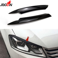 Piano Black For Volkswagen VW Passat B7 2010 2014 Car Headlight Head Lamp Light Eyelid Eyebrow Stickers Cover Trim Accessories