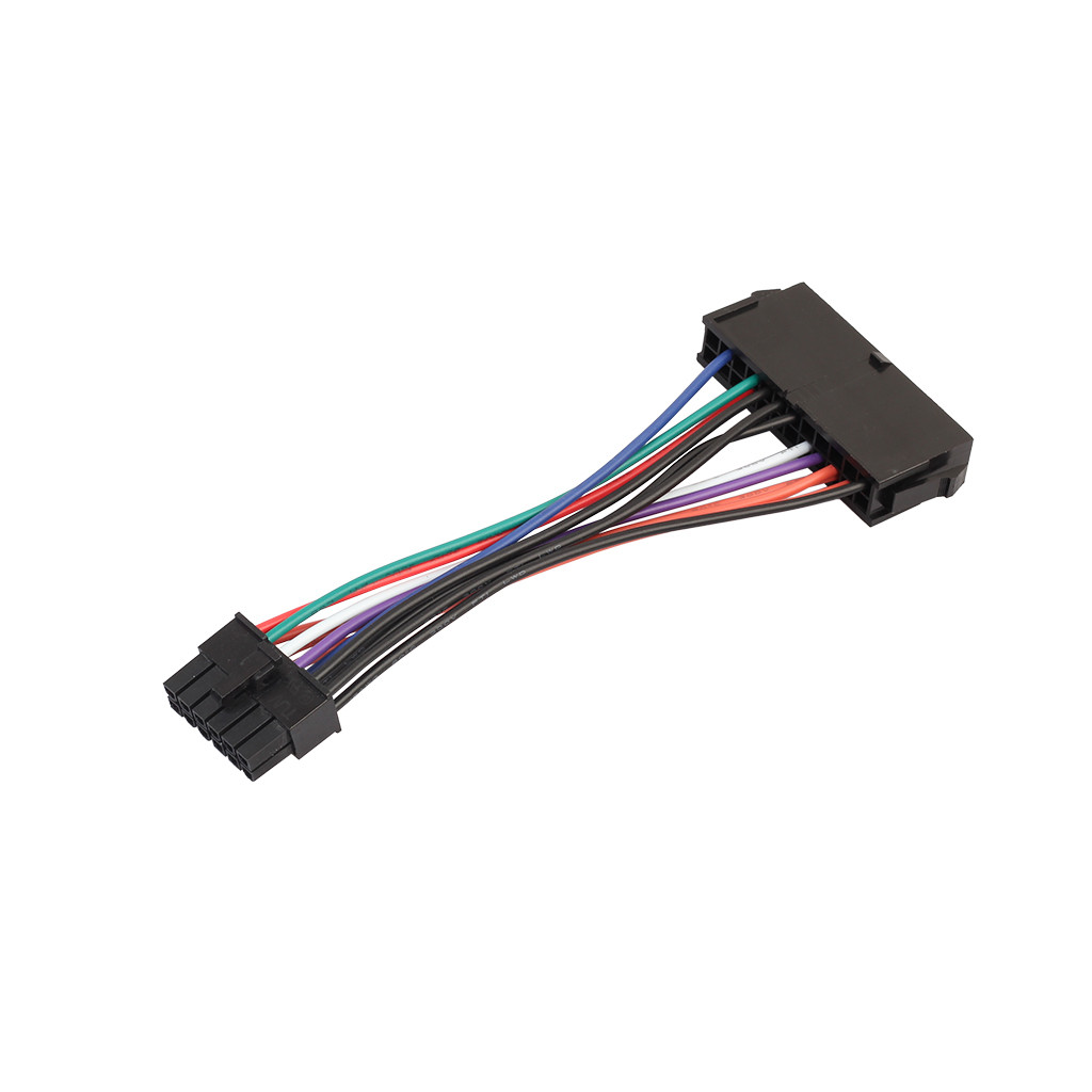 15cm ATX <font><b>24</b></font> <font><b>Pin</b></font> to 12 <font><b>Pin</b></font> Power Supply <font><b>Cable</b></font> 24p to 12p Cord For Acer Q87H3-AM power <font><b>cable</b></font> Drop Shipping l1206#2 image