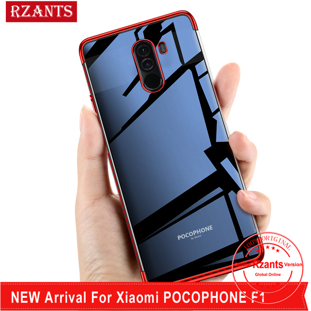 purchase cheap 8d772 f8d8a US $3.98 |Rzants For Xiaomi pocophone F1 Soft Case Luxury Transparent  plating Cover For Poco F1-in Half-wrapped Case from Cellphones & ...