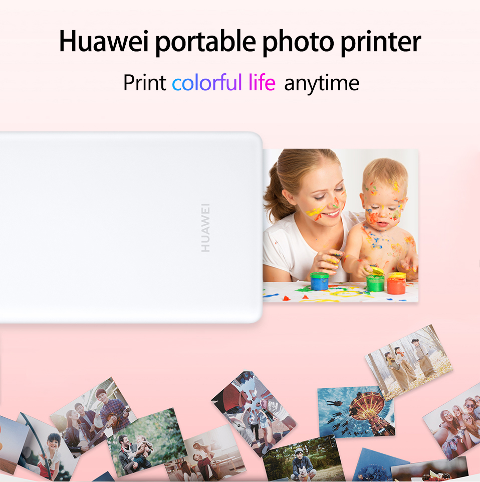 AR Printer 300dpi Original Huawei Zink Portable Photo Printer Honor Mini Pocket Printer Bluetooth 4.1 Support DIY Share 500mAh (1)