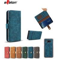 新しい磁気取り外し可能なバックカバー財布フリップレザーケース高級用三星銀河注8カバー電話バッグ用サムスン注8