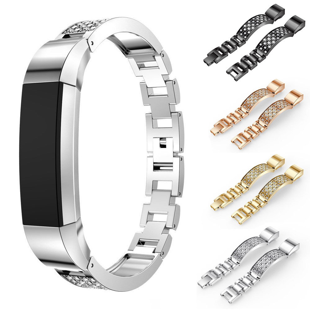 2018 High Quality Watch Strap NEW Rhinestone Stainless Steel Watch Bracelet Band Strap For Fitbit Alta HR Correas de reloj lnop nylon rope survival strap for fitbit alta alta hr replacement band bracelet wristband watchband strap for fitbit alta