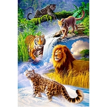 Cat family diamond Embroidery diy painting mosaic diamant 3d cross stitch picture H508