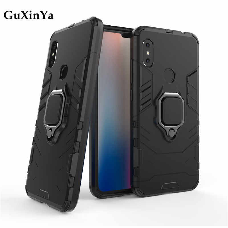 Phone Cases For Xiaomi Redmi Note 6 Pro Case Luxury Armor Magnetic Ring Cover For Redmi Note 6 Pro Capa Redmi Note 6 Pro Fundas