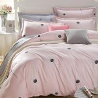 (bed sheet+duvet cover+pillowcase)3pc/4pc Dandelion pattern bedding set,pink duvet cover set 100% Cotton twin/queen/king size