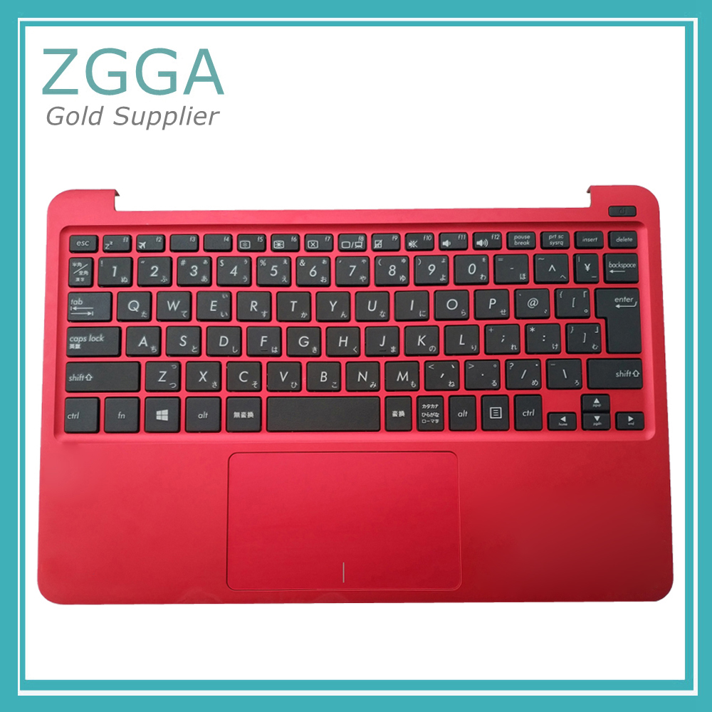 Genuine Laptop Upper Case For Asus Eeebook X205 X205T X205TA Palmrest Cover With EU Bilingual English Keyboard Red factory price 19v 1 75a 33w laptop ac power adapter charger for asus eeebook x205t x205ta