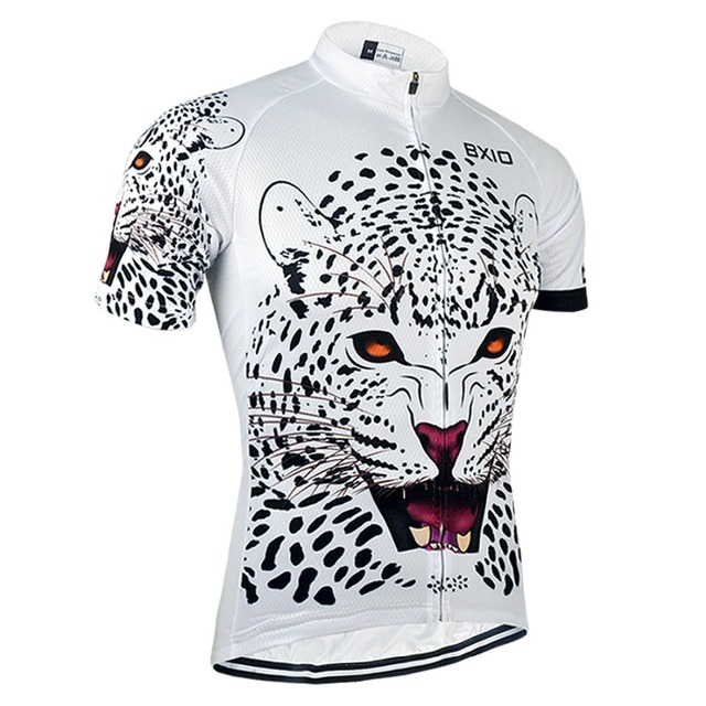 Bxio Cool Leopard Cycling Jersey Shirt Mountain Bike Clothing Summer Cool  Sportswear Short Sleeve For Man BX-0209W034-J 2cf795476