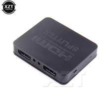 مقسم الوصلات البينية متعددة الوسائط وعالية الوضوح (HDMI) 1 في 2 خارج 1080p 4K 1x2 HDCP المتعرية ثلاثية الأبعاد الجلاد 2 ميناء المحور ل HDTV DVD PS3 Xbox TV BOX مراقب