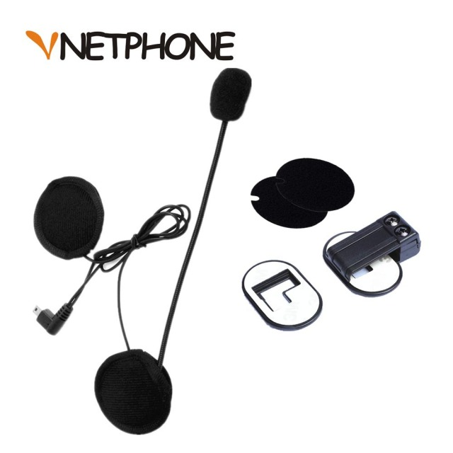 2016 Time-limited Capacete Casco Mini Usb Jack Microphone Speaker Headset And Helmet Intercom Clip for Vnetphone V2-500 V2-1200