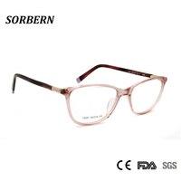 725d3ab530 SORBERN Women Eyeglasses Frames Optical Luxury Ladies Eye Glasses Square  Acetate Eyeglasses Dimond Design High Quality