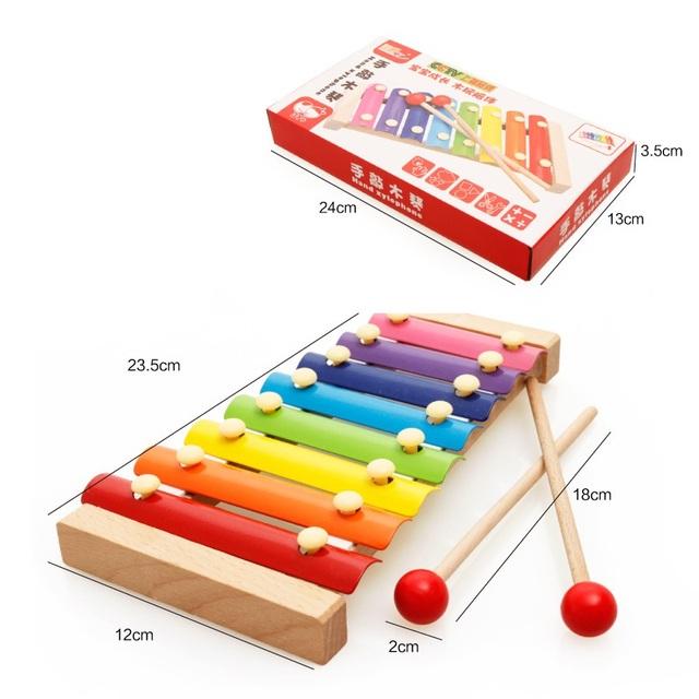 O bebê caçoa a toys xilofone instrumento musical de madeira para crianças crianças infantil jogando tipo mushical toys presente