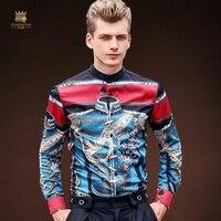 FANZHUAN marcas destacadas camisetas ropa hombre estrellas hombres personalidad creativa patrón de impresión camisa de manga corta hombres 713148