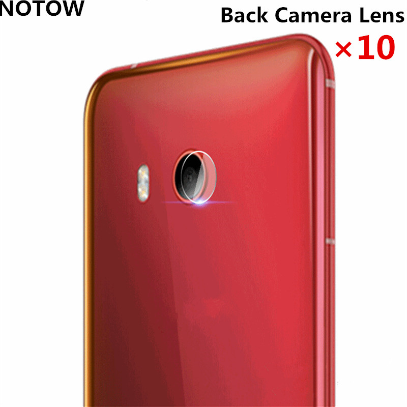 10pcs/lot NOTOW flexible Rear Transparent Back Camera Lens Tempered Glass Film Protector Case For HTC U11 5.5 inch