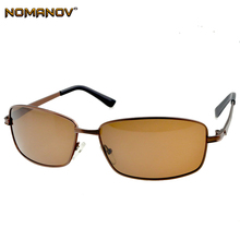 876dce919bb NOMANOV   Rectangular Brown Myopia Polarized Sunglasses Custom Made short  sight Minus Prescription Lenses -1 to -6