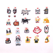 Animal Dog Cat Badge Repair Patch Embroidered Iron On Patches For Clothing Close Shoes Bags Badges Embroidery DIY