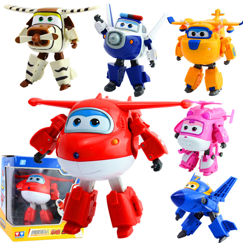 Image 3 - NEW Arrival Big 15cm ABS Super Wings Deformation Airplane Robot Transformation Action Figures Toys for Children Gift Brinquedosfigure toyaction figure toystoys for -