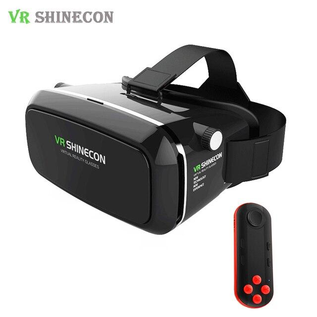 66a725aebf5 2017 VR Shinecon Pro 3D Virtual Reality Glasses HD 360 Viewing Imax Helmet  Goggles Cardboard VRBOX