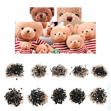 Children Like 100Pcs/Bag DIY Doll Toy Eyes Black Plastic Safety Eyes Puppets With Washers 5mm,6mm,8mm,9mm,10mm,12mm Drop Ship(China)