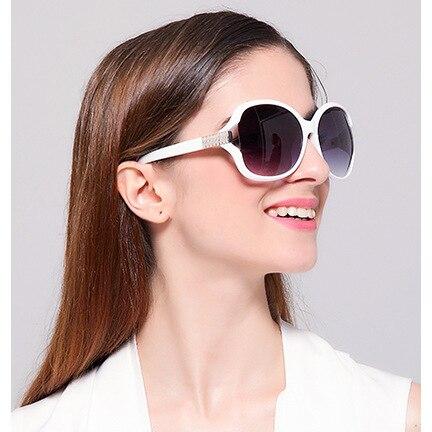 white framed sunglasses
