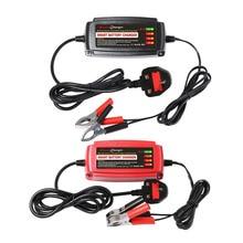 12 В 5A автомобиль smart свинцово-кислотная Батарея Зарядное устройство автомобильный аккумулятор Зарядное устройство автомобиля 4 этап режима коммутации светодиодный индикатор великобритания Plug