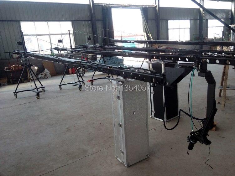 Jimmy jib caméra 12 m 3 axes motorisé néerlandais tête caméra grue à vendre approvisionnement d'usine